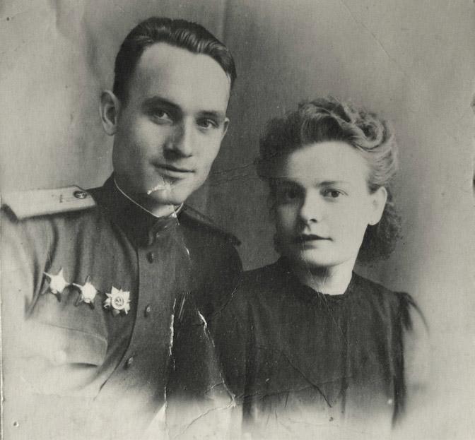 Молодожёны Бурыкины, Новороссийск, 1946 г.